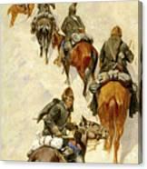 Scouts Climbing A Mountain Canvas Print