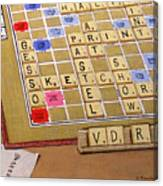 Scrabble Gesso Misplayed Canvas Print
