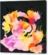 Scrambled Sunrise 2017 - Pink And Orange On Black Canvas Print