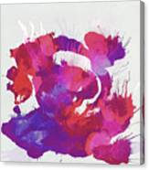 Scrambled Sunrise 2017 - Pink And Purple On White Canvas Print