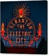 Scranton - The Electric City Canvas Print