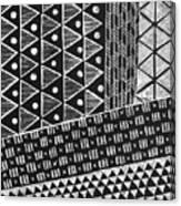 Scratchboard Kapa Pattern 1 Canvas Print