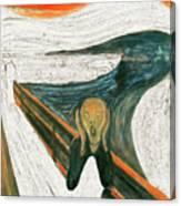 Scream A Bunch Digital Canvas Print