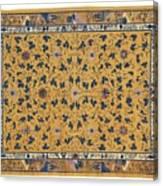Scrolling Lotus Canvas Print