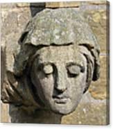 Sculpted Head Of Woman. Canvas Print