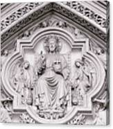 Sculpture Above North Entrance Of Westminster Abbey London Canvas Print