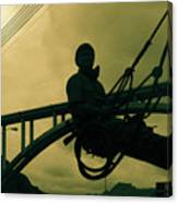 Sculpture - Hoover Dam Construction Worker Canvas Print