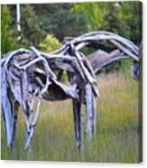 Sculpture Of Horse Canvas Print