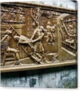 Sculpture Torture At Hoa Lo Prison Hanoi Canvas Print