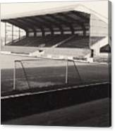 Scunthorpe United - Old Showground - East Stand 1 - Bw - 1960s Canvas Print