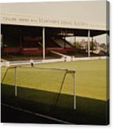 Scunthorpe United - Old Showground - Main Stand 2 - 1970s Canvas Print