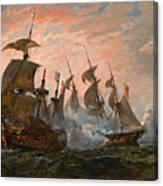 Sea Battle Canvas Print