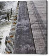 Sea Cliff Seawall Boardwalk Canvas Print