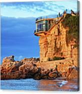 Sea Coast Sunrise At Balcon De Europa In Nerja Canvas Print