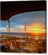 Sea Cruise Sunrise Canvas Print