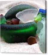 Sea Glass From Bermuda Canvas Print
