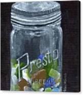 Sea Glass Jar Canvas Print