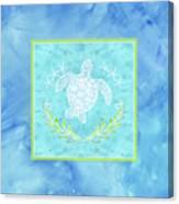 Flamingo Beach 1 - Turtle With Starfish  Canvas Print