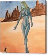 Sea Goddess In Utah Canvas Print