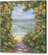 Sea Grape Heart Canvas Print