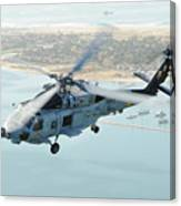 Sea Hawk Helicopter Flies Over  San Diego Canvas Print