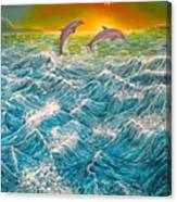 Sea In Action Canvas Print