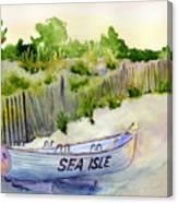 Sea Isle Rescue Boat Canvas Print