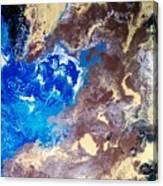 The Sea Kises The Desert Canvas Print