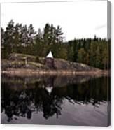 Sea Mark On An Islet At Lake Saimaa Canvas Print
