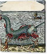 Sea Monster, 16th Century Canvas Print