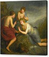 Sea Nymphs Discovering The Hair Of Medusa Turning To Coral Canvas Print