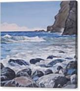 Sea Pounded Stones At Crackington Haven Canvas Print