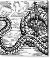 Sea Serpent, 1555 Canvas Print