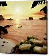 Sea Shore.sunset Canvas Print