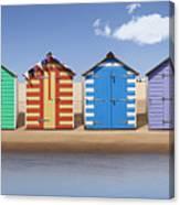 Seaside Beach Huts Canvas Print
