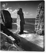 Sea Stacks At Castle Sinclair Girnigoe Canvas Print
