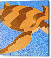 Sea Turtle Inlay In Vibrant Colors Canvas Print