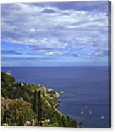 Sea View From Taormina Canvas Print