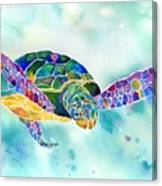 Sea Weed Sea Turtle  Canvas Print