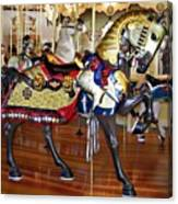 Seabreeze Carousel Armored Horse Canvas Print