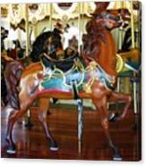 Seabreeze Carousel Horse Canvas Print