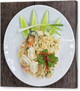 Seafood Fried Rice Canvas Print