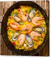 Seafood Paella  Canvas Print