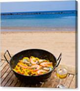 Seafood Paella In Cafe Canvas Print