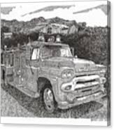 Seagrave Gmc Firetruck Canvas Print