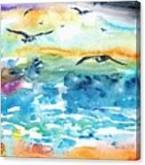Seagull Seas Canvas Print