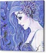 Seahorse Dreams Mermaid Canvas Print