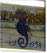 Seahorse Est. 1934 Canvas Print