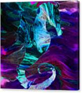 Seahorse In A Lightning Storm Canvas Print