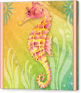 Seahorse Pink Canvas Print